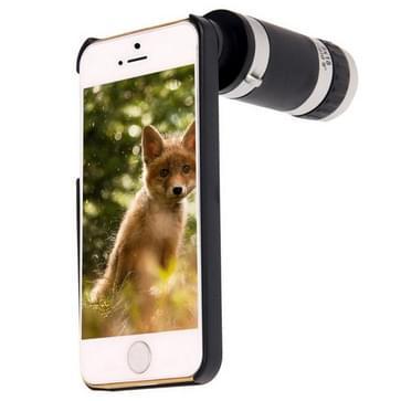 8 X Zoom Lens mobiele telefoon telescoop + Plastic hoesje voor iPhone 5 & 5S(zwart)