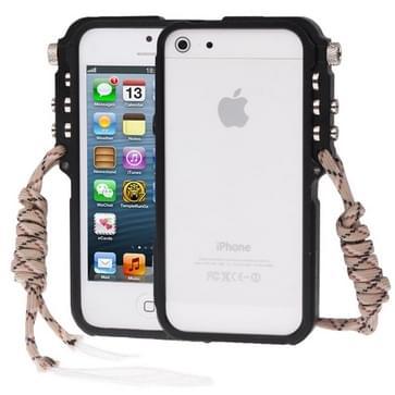 iPhone 5 & 5S & SE Tactische militaire stijl Aluminium 4th Design Trigger Bumper Frame Hoesje (zwart)