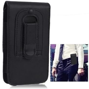 Leather Case with Clip for iPhone 5 & 5s & SE & SE (Black)