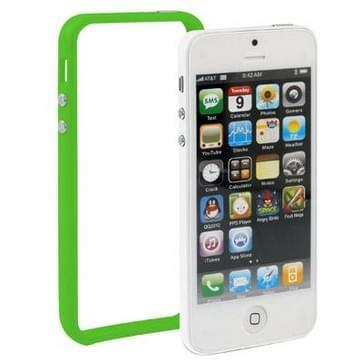 iPhone 5 & 5S & SE Kunststof Bumper Frame Hoesje met knoppen (groen)