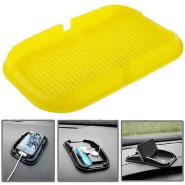 Auto Dashboard anti-slip Magic Sticky siliconen Gel Pad / houder voor iPhone 5 & 5S / iPhone 4 & 4S(geel)