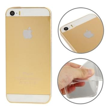 iPhone 5 & 5S ultra-dun 0.3mm beschermend TPU back cover Hoesje (transparant)