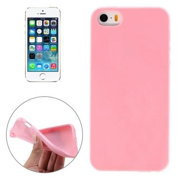 iPhone 5 & 5S & SE Gekleurd Kunststof back cover Hoesje (roze)