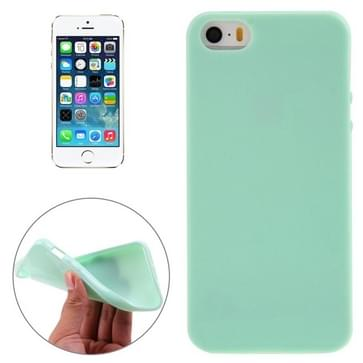 iPhone 5 & 5S & SE Gekleurd Kunststof back cover Hoesje (groen)