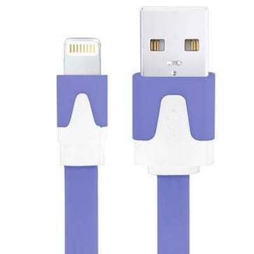 Platte Noodle Stijl USB Sync Data / laad Kabel voor iPhone 6 / 6S & 6 Plus / 6S Plus, iPhone 5 & 5S & 5C, iPad Air, Kabel Lengte: 3 meter