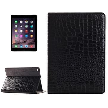 krokodil structuur horizontaal Flip lederen hoesje met houder & opbergruimte voor pinpassen & portemonnee voor iPad Air 2(zwart)