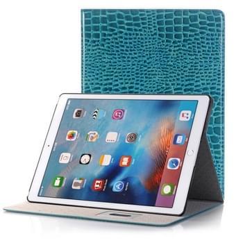 krokodil structuur horizontaal Flip lederen hoesje met houder & opbergruimte voor pinpassen & portemonnee voor iPad Air 2(blauw)