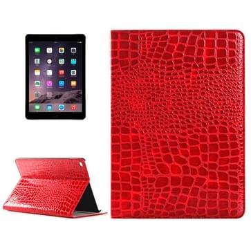 krokodil structuur horizontaal Flip lederen hoesje met houder & opbergruimte voor pinpassen & portemonnee voor iPad Air 2(rood)