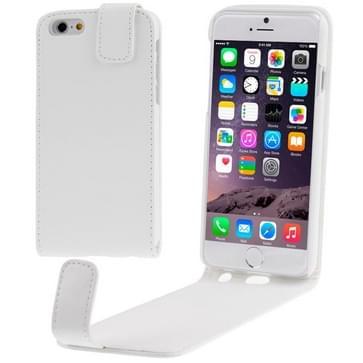 iPhone 6 & 6S vertikaal PU leren Flip Hoesje Wit