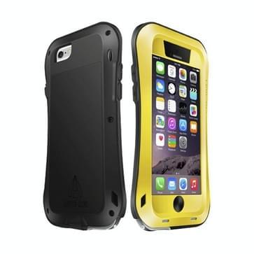 iPhone 6 & iPhone 6S slank compleet omhullend ultrarobuust regendicht metalen LOVE MEI Hoesje (geel)