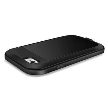 iPhone 6 & iPhone 6S compleet omhullend ultrarobuust regendicht metalen LOVE MEI Hoesje (zwart)