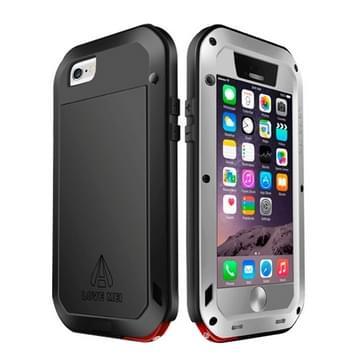 iPhone 6 & iPhone 6S compleet omhullend ultrarobuust regendicht metalen LOVE MEI Hoesje (grijs)