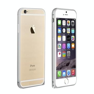 iPhone 6 & 6S curved LOVE MEI Metalen bumper frame Hoesje (zilverkleurig)