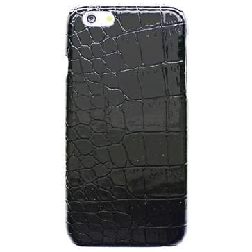 iPhone 6 & 6S Krokodil structuur Kunststof back cover Hoesje (zwart)