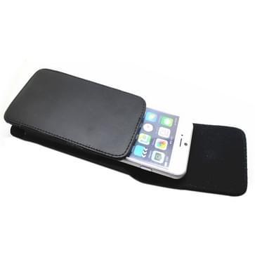 universeel Vertical Style lederen hoesje met riemclip voor iPhone 6 / Samsung Galaxy S IV / i9500 / Alpha(zwart)