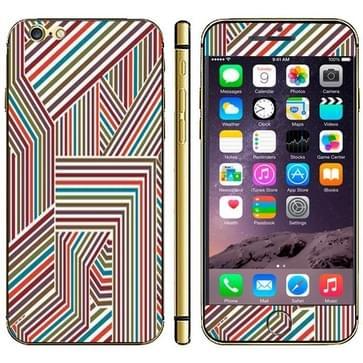 iPhone 6 & 6S 3D Kleurrijk gestreept patroon beschermende stickers