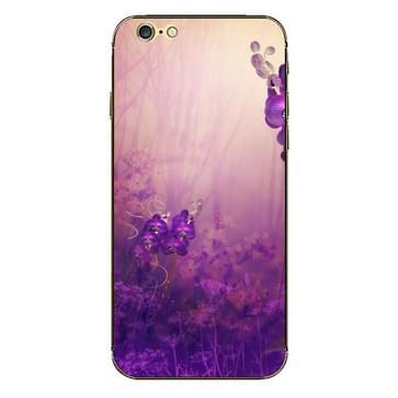iPhone 6 & 6S Paars bloemen patroon beschermende stickers