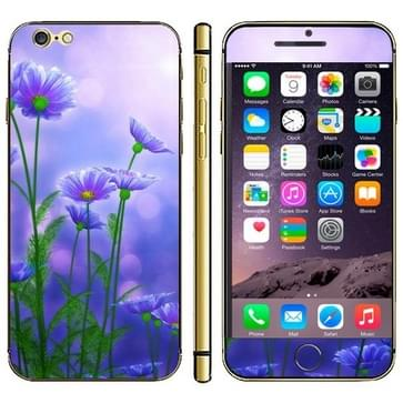 Blue Flower Pattern Mobile Phone Decal Stickers for iPhone 6 & 6S