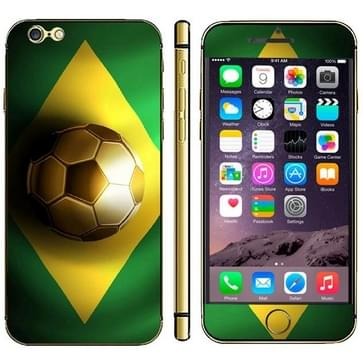 iPhone 6 & 6S Brazilie Braziliaanse vlag patroon beschermende stickers