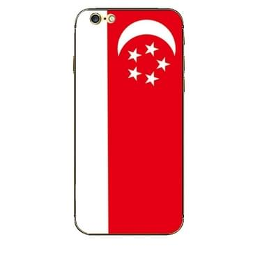 iPhone 6 & 6S Singapore vlag patroon beschermende stickers