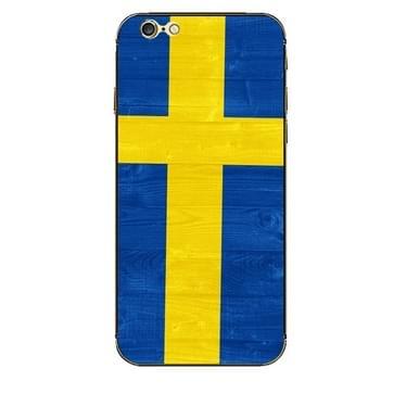 iPhone 6 & 6S Zweden vlag patroon beschermende stickers