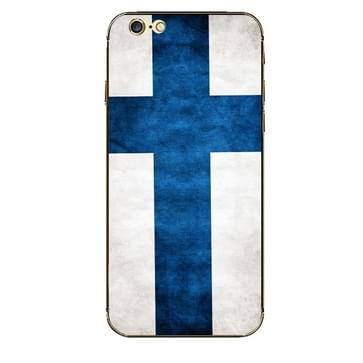iPhone 6 & 6S Finland vlag patroon beschermende stickers