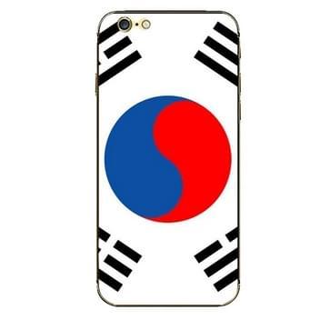 iPhone 6 & 6S Korea vlag patroon beschermende stickers