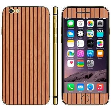 iPhone 6 & 6S Hout patroon beschermende stickers (bruin)