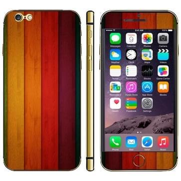 iPhone 6 & 6S Kleurrijk hout patroon beschermende stickers