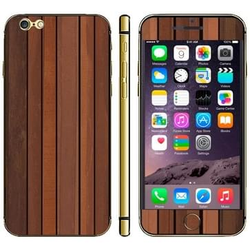 iPhone 6 & 6S Hout patroon beschermende stickers (donker bruin)