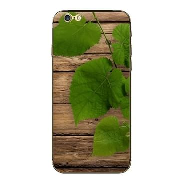 iPhone 6 & 6S Bladeren en hout patroon beschermende stickers