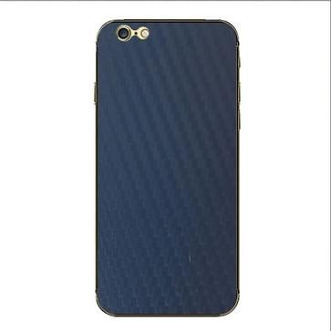 iPhone 6 & 6S Koolstofvezel structuur beschermende stickers (donker blauw)