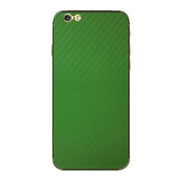 iPhone 6 & 6S Koolstofvezel structuur beschermende stickers (groen)
