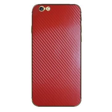 iPhone 6 & 6S Koolstofvezel structuur beschermende stickers (rood)