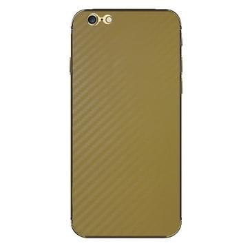 iPhone 6 & 6S Koolstofvezel structuur beschermende stickers (geel)