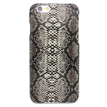 iPhone 6 & 6S Slangenhuid patroon Kunststof back cover Hoesje (zwart)