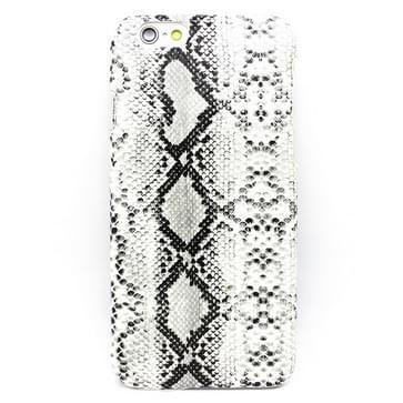 iPhone 6 & 6S Slangenhuid patroon Kunststof back cover Hoesje Wit
