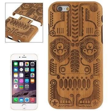 iPhone 6 & 6S Totem patroon deelbaar Bamboe houten back cover Hoesje