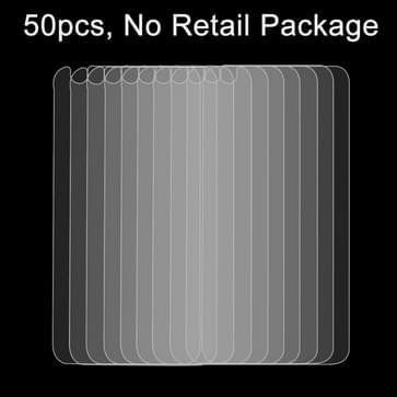 50 stuks voor iPhone 6 0,26 mm 9H oppervlakte hardheid 2.5D explosieveilige terug getemperd glas Film, No retailpakket