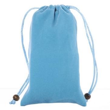 universeel Leisure Cotton Flock kleding Carry Bag met Lanyard voor iPhone 6 / 6S / Samsung Galaxy S6 / S5 / G900 / S IV / i9500 / SIII / i9300(blauw)