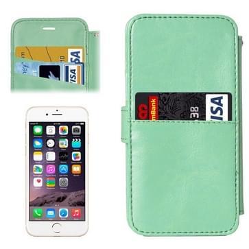 iPhone 6 & 6S horizontaal Portemonnee stijl PU leren Flip Hoesje met afneembaar back cover en opbergruimte voor pinpassen (groen)