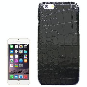 iPhone 6 Plus & 6S Plus Krokodil structuur PU leren back cover Hoesje (zwart)