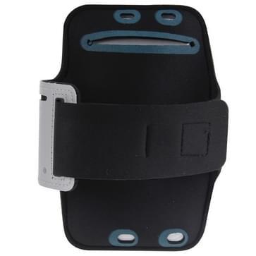 iPhone 6 Plus & 6S Plus Sport armband Hoesje met koptelefoon opening en opbergruimte voor sleutel (grijs)