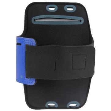 iPhone 6 Plus & 6S Plus Sport armband Hoesje met koptelefoon opening en opbergruimte voor sleutel (donker blauw)