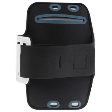 iPhone 6 Plus & 6S Plus Sport armband Hoesje met koptelefoon opening en opbergruimte voor sleutel Wit