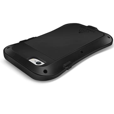 iPhone 6 Plus & 6S Plus ultra-smal waterproof schokbestendig Metaal + siliconen LOVE MEI Hoesje (zwart)