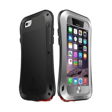 iPhone 6 Plus & 6S Plus ultra-smal waterproof schokbestendig Metaal + siliconen LOVE MEI Hoesje (grijs)