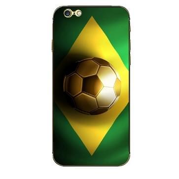 iPhone 6 Plus & 6S Plus Brazilie Braziliaanse vlag patroon beschermende stickers