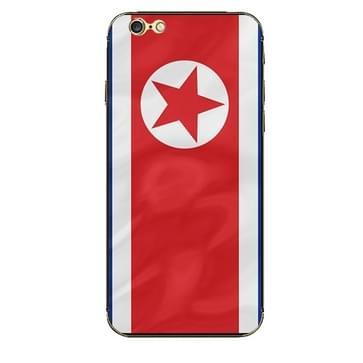 iPhone 6 Plus & 6S Plus Noord Korea vlag patroon beschermende stickers