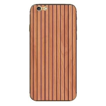iPhone 6 Plus & 6S Plus Hout patroon beschermende stickers (bruin)